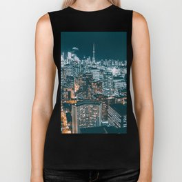 Toronto by night - City at night Biker Tank