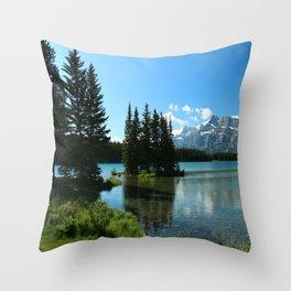 Island In the Lake Throw Pillow
