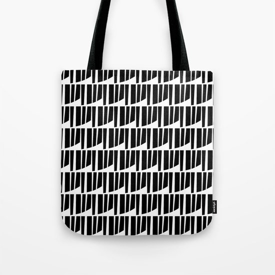 Westfranke Black & White Pattern Tote Bag