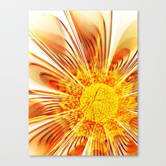 Summer Fractal Flower Canvas Print