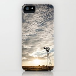 Sandhills Windmill @ Sunset Verticle iPhone Case