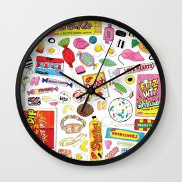 Retro Tuck Shop Sweets Wall Clock