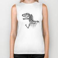 t rex Biker Tanks featuring T-Rex by ALT Illustration