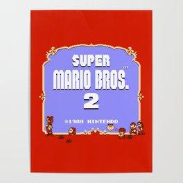 Super Mario Bros. 2 (NES) Title Poster