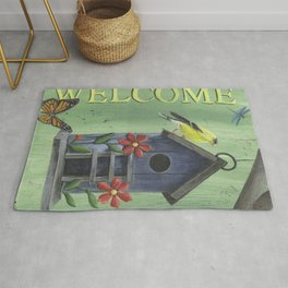 Welcome Goldfinch Rug