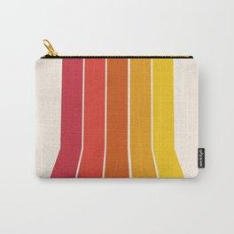 Rad - retro throwback 70s 1970s stripe beach 70's vibes minimal art Carry-All Pouch