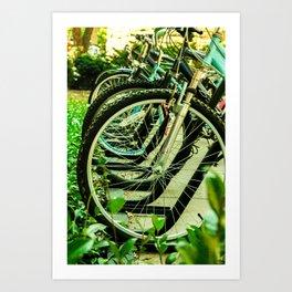 Bike Wheels Art Print