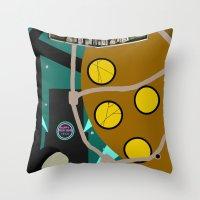 bioshock Throw Pillows featuring Bioshock by Chandler Payne