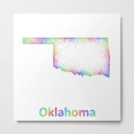 Rainbow Oklahoma map Metal Print