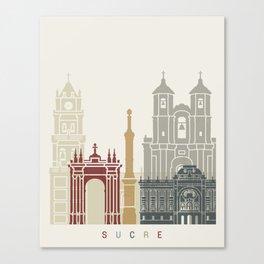Sucre skyline poster Canvas Print