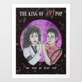 THE KING OF ARTPOP Art Print