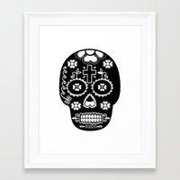 dia de los muertos Framed Art Prints featuring DIA DE LOS MUERTOS by RIGOLEONART
