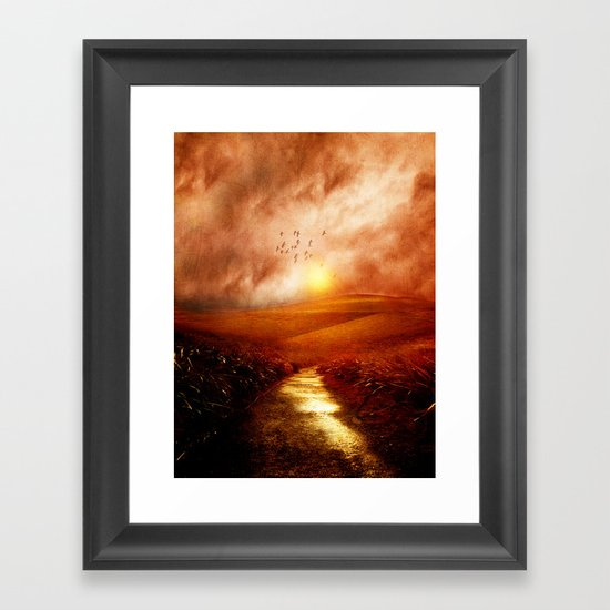 when the darkness, shine Framed Art Print