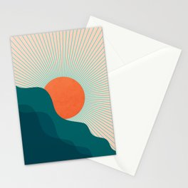 Abstraction_NEW_SUNLIGHT_MOUNTAINS_SHINE_POP_ART_M1209A Stationery Cards