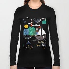 Pirates Ahoy Grey Long Sleeve T-shirt