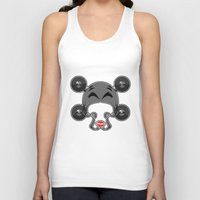 roller derby Tank Tops featuring Roller derby xxx by Andrew Mark Hunter