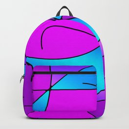 ABSTRACT CURVES #1 (Purples, Violets, Fuchsias & Turquoises) Backpack