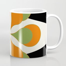 Mid-Century Modern Art 1.4 - Green & Orange Flower Coffee Mug