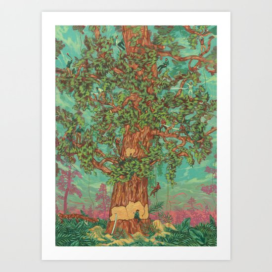 Uprooting the Ancients Art Print