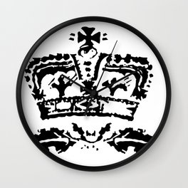 Old Crown Reversed Wall Clock