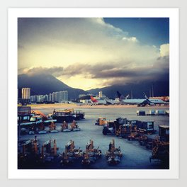 Dawn at Chek Lap Kok Art Print