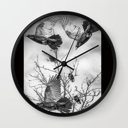 Krummar (raven) Wall Clock