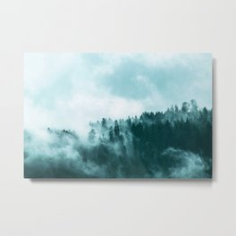 Clear away the fog to see the light. Turquoise Metal Print
