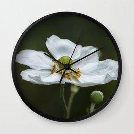 Graceful Anemones, No. 3 Wall Clock