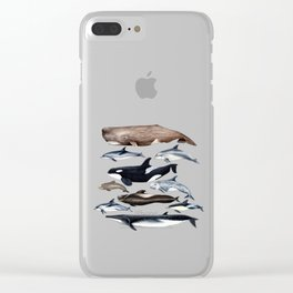 Atlantic whales, dolphins and orca Clear iPhone Case