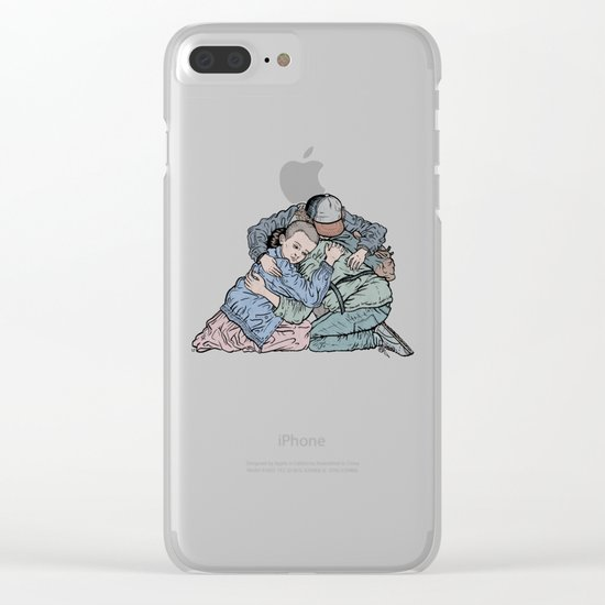 Stranger Things Hug Clear iPhone Case