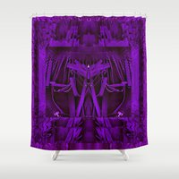 leather Shower Curtains featuring Leather Man by Pepita Selles