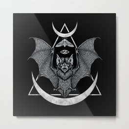 Occult Bat Metal Print