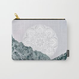 Ice Tipped Mountains Carry-All Pouch