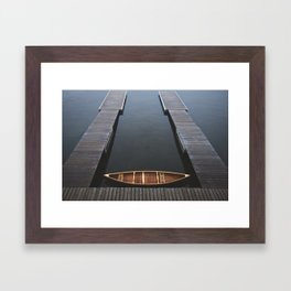 The Golden Canoe Framed Art Print