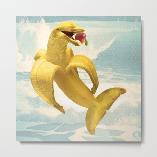 Fruit Fish Metal Print