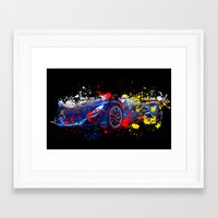 sport Framed Art Prints featuring sport car by mark ashkenazi