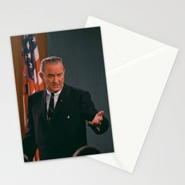 Lyndon Johnson Press Conference - 1967 Stationery Cards