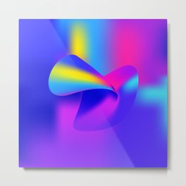 Gradient Shape Drawing Metal Print
