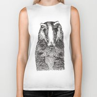 badger Biker Tanks featuring Badger by Meredith Mackworth-Praed