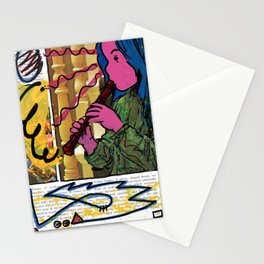 Alice Charms the Flamingos in Defiance of the Queens Stationery Cards