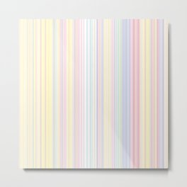 Happy Dream -Elegant Colorful stripe- Metal Print