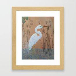 Unicorn Egret Framed Art Print