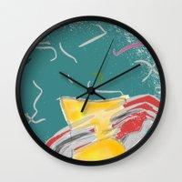 fishing Wall Clocks featuring FISHING by  ECOLARTE