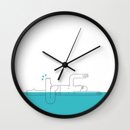 A Swimmer Wall Clock