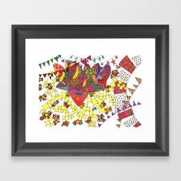 Festive Fervor Framed Art Print