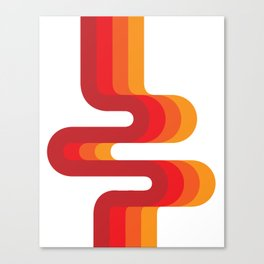 Retro Flow Canvas Print
