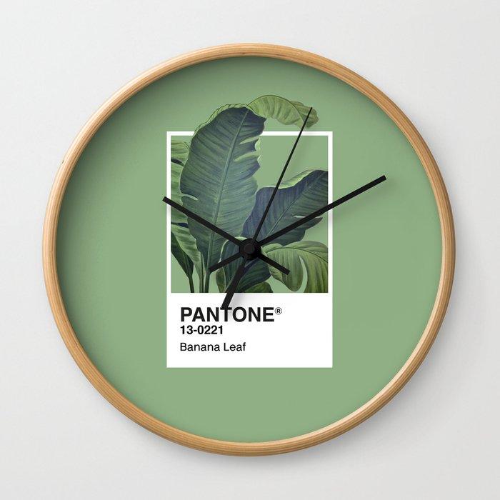 Pantone Series – Banana Leaf Wall Clock