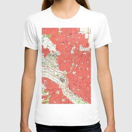 Vintage Map of Dallas Texas (1958) 2 T-shirt