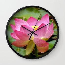 Elegant Lotus Wall Clock