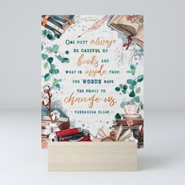 Be careful of books Mini Art Print